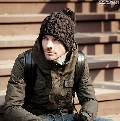 New Fashion Winter Women Men Knit Ski Beanie Ball Wool Cuff Hat Cap