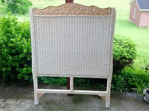 Details about Pier 1 Imports Jamaica Wicker Rattan Cottage Coastal Twin  Size HeadBoard *RARE*