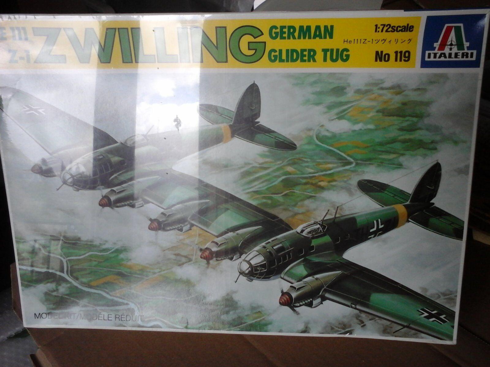 Heinkell he111 Zwilling German Glider Tug 1 72 scale Italeri Model