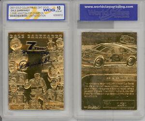 DALE-EARNHARDT-2001-AUTOGRAPHED-GEMMT-10-23KT-GOLD-CARD-7X-WINSTON-CUP-CHAMPION