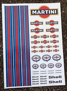 Rc Martini Stickers Decals Mardave Kyosho Tamiya Hpi-afficher Le Titre D'origine