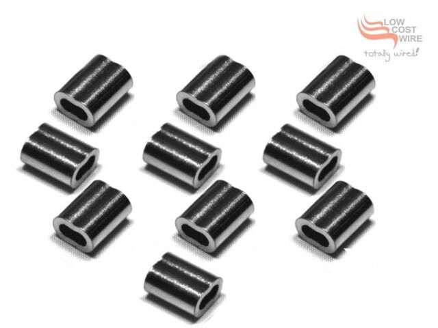 Nickel Plated Copper Swage/Ferrule 3.2mm 10qty Swages for Wire Rope Balustrade