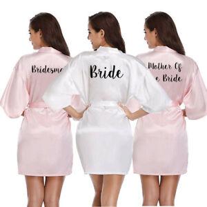 Womens-Bridesmaid-Satin-Silk-Wedding-Bath-Robe-Bride-Maid-Of-Honor-Mother-Gown