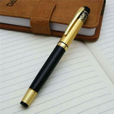 New Style HERO 901 Black Gold Medium Nib Roller Ball Fountain Pen Stainless Cool