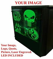 Personalized Transparent Acrylic Computer Case Pc Game Sink, Laser Engraved,