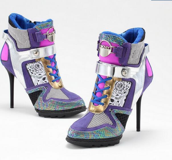 salutare Fashion Multi-Colore Donna Donna Donna  High- Top High Heel Stilleto scarpe da ginnastica Sport scarpe SZ  risparmia fino al 70%