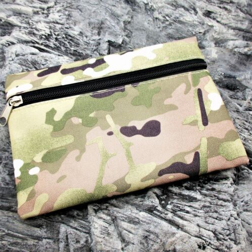 SMALL CAMOUFLAGE STORAGE ZIP POUCH camping hiking bushcraft survival kit EDC