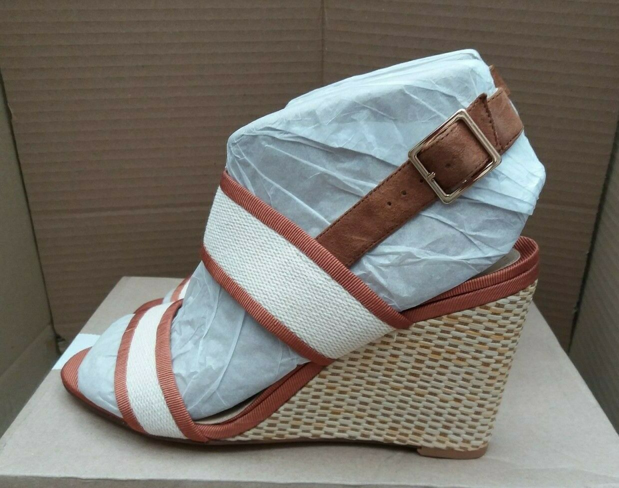 Clarks  Image Weave  Summer Wedge Sandals - Tan - UK 7 EU 41