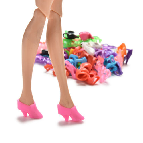 Randomly 40 Pairs Doll Shoes Assorted Colorful Heels for s Outfit Dress v!
