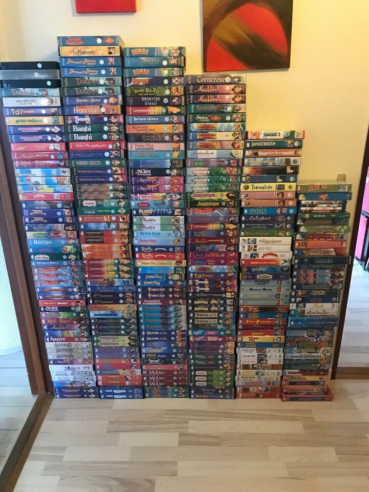 Børnefilm, VHS