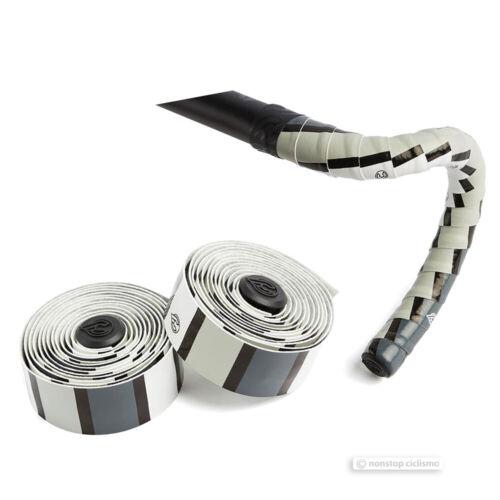 SQUARE WHITE//BLACK//GREY Cinelli VOLEE DESIGNER Bicycle Handlebar Tape