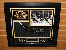 Patrice Bergeron Boston Bruins signed framed hockey stick blade display