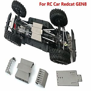 Acero-Inoxidable-Skid-Plate-Chasis-Armor-Protector-Guard-Para-RC-Car-Redcat-Gen8