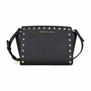 74373602ccdd47 Michael Kors Women's Selma Stud Messenger Bag - Black for sale ...
