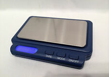 AWS CARD V2 600 Scale 600g gram x 0.1g Digital Back-lit LCD display Pocket Blue