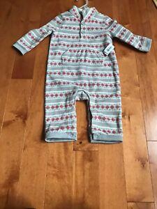 Old Navy Baby Girls 12-18 MONTH One-Piece Fleece Bunting Coat CAT Pink #35919