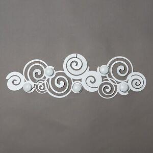 Arti e Mestieri Appendiabiti da parete moderno in metallo Orfeo Bianco Metallo