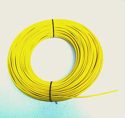 100m φ 4mm Silicon Fiber Glass Insulated Tube Sleeve UL 1500V VW-1 180℃ Yellow