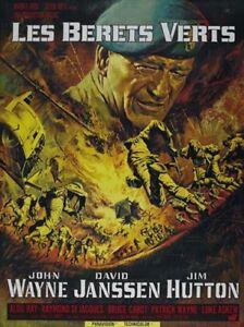 The green berets 1968 John Wayne cult movie poster print
