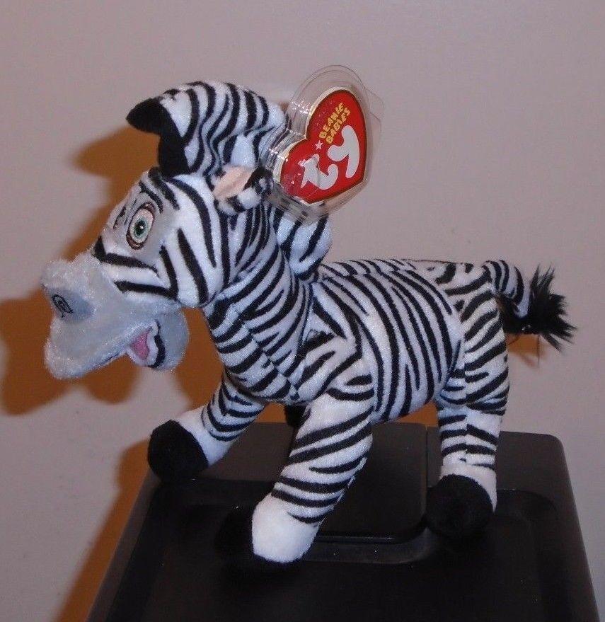Ty beanie baby - marty das zebra (madagaskar film) (8 cm) mwmt