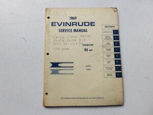Array - details about 1969 evinrude outboard starflite 85 hp 85993 models oem service manual p n 4598  rh   ebay com