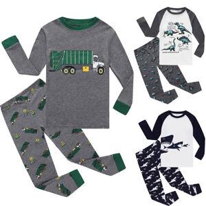Toddler-Baby-Boys-Girls-Long-Sleeve-Cartoon-Tops-Pants-Pajamas-Sleepwear-Outfits
