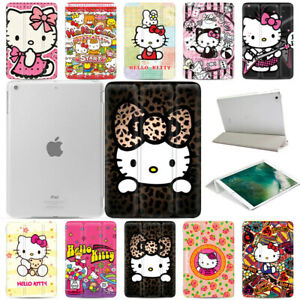 Hello-Kitty-Magnetic-Smart-Cover-Skin-Hard-Back-Case-Stand-for-Apple-iPad-Tablet
