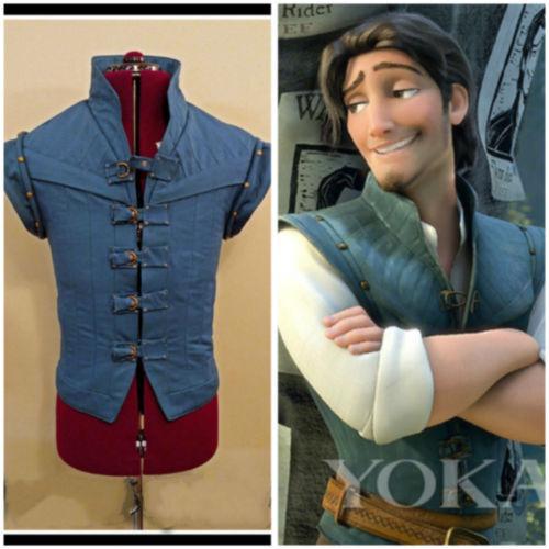 Enchanted Tangled Prince Flynn Rider Vest jacket uniform cosplay cos