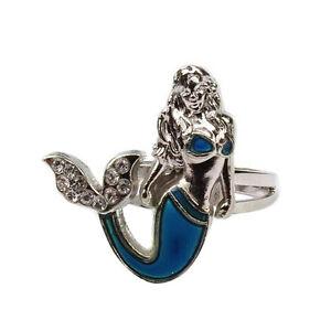 Meerjungfrau Schwanz Stimmung Ring Emotion Feeling Farbe Einstellbarer Ring WRDE