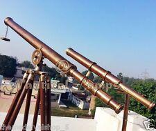 Brass Nautical Telescope with Tripod Large Marine Navy Island Antique Spyglass