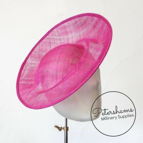 /'Cindy/' Sinamay Orbital Pleat Fascinator Hat Base for Millinery /& Hat Making