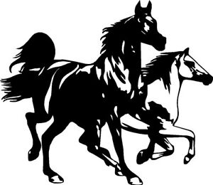 wild horses vinyl car decals for truck or trailer 12 x 10 ebay Used Aluminum Horse Trailers image is loading wild horses vinyl car decals for truck or