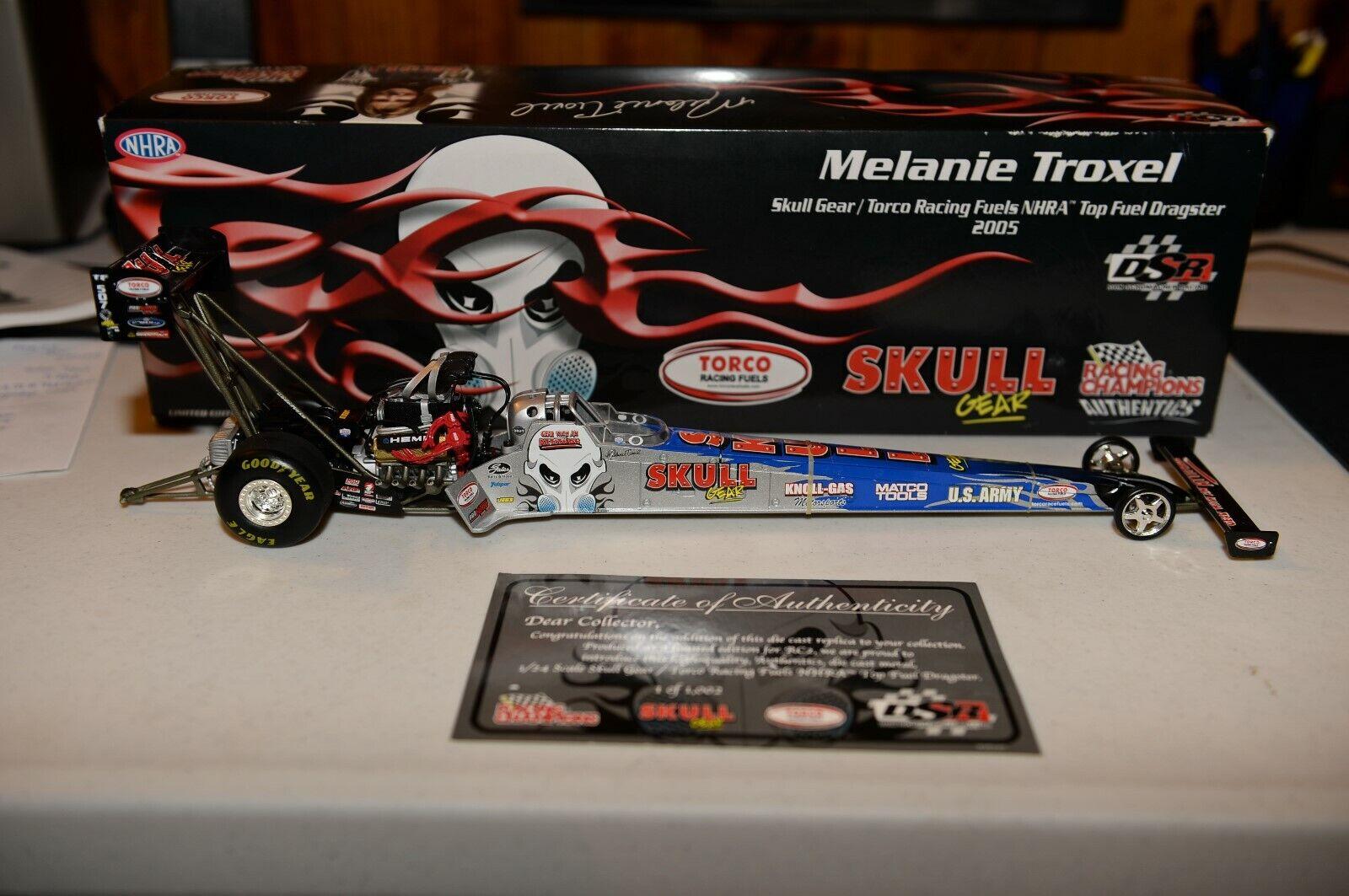 n ° 1 online RACING CHAMPIONS 1 24 SCALE MELANIE TROXEL TROXEL TROXEL 2005 SKULL GEAR TORCO T F NHRA  risparmia fino al 50%