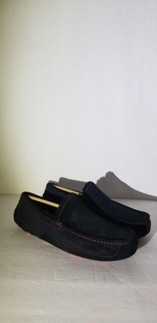 25fdb9fd3ab UGG Mens Ascot Black Marble Bottom Suede SLIPPER Shoe Size 11 US RARE Color