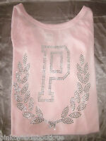 Victoria's Secret Pink Sweater Top Crystal Bling Pastel Xs