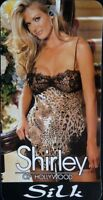 Shirley Of Hollywood Leopard Print Chemise & G-string Size Large