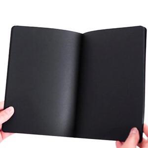 56K-Schwarz-Papier-Graffiti-Notebook-Skizze-Buch-Tagebuch-Notepad-Neue-Malerei