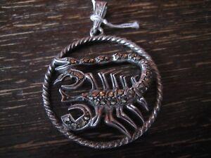grosser-Art-Deco-Markasit-Anhaenger-Sternzeichen-Skorpion-Horoskop-925er-Silber