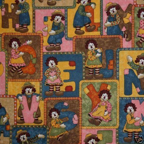 /'ABC Pals/'  Patchwork Alphabet Letters 100/%Cotton Fabric Dolls Fabri Quilt