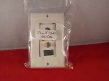 HDMI Component 3RCA Toslink Optical Wall Plate White.