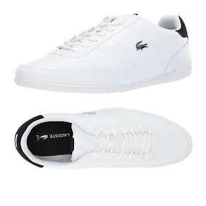 Men/'s Shoes Lacoste GIRON 119 Leather Fashion Sneakers 37CMA0081147 WHITE //BLACK