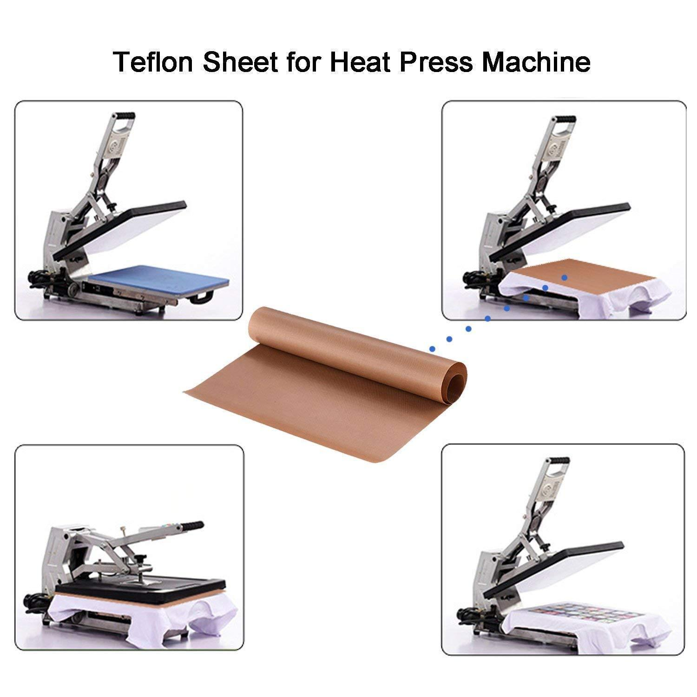 "Waterproof and Washable by Amazing Creations Bonus Extra Teflon Sheet 10 Pack Heat Press Non-Stick Teflon Sheets 20 x20/"" Heat Resistant Transfer Paper Reusable Baking Sheets"
