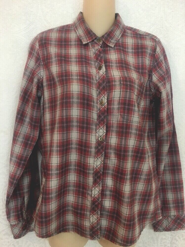 Current Elliott Shirt Railroad Plaid  Slim Boy Shirt  Größe 1 NWT