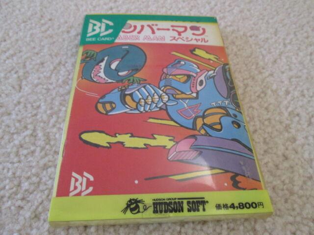 Bomberman Special ( MSX ) Game in Box Bee Card Japan