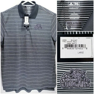 NWT-Prince-George-Cougars-Mens-Large-Golf-Shirt-Polo-Adidas-Climalite-Polyester