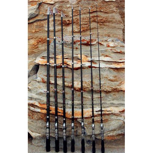 Portable Telescopic Carbon Fiber Pocket Spinning Fishing Rod Pole Travel Hot