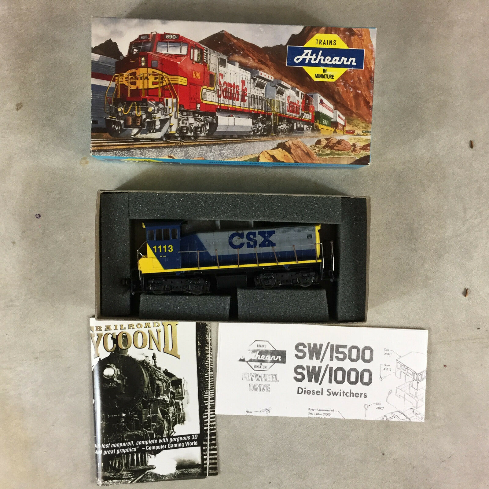 Medidor de HO ATHEARN CSX Vintage Motor De Locomotora De Tren FerroCocheril Modelo Con Caja