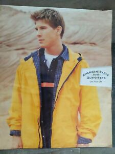"""American Eagle Outfitters 1998 Print Ad """"Live Your Life"""" Handsome Young Man"""