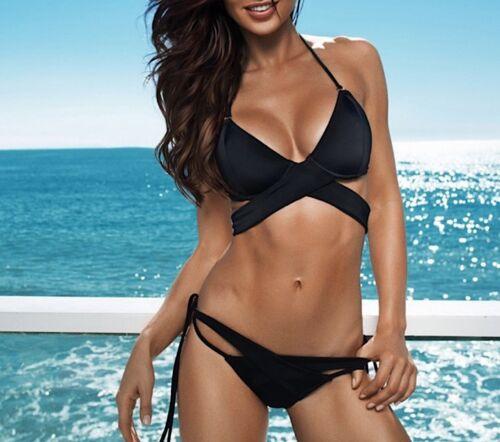 Costume da Bagno 2Pezzi Bikini Mare Donna Top Giro Busto Woman Swimsuit 550048 P