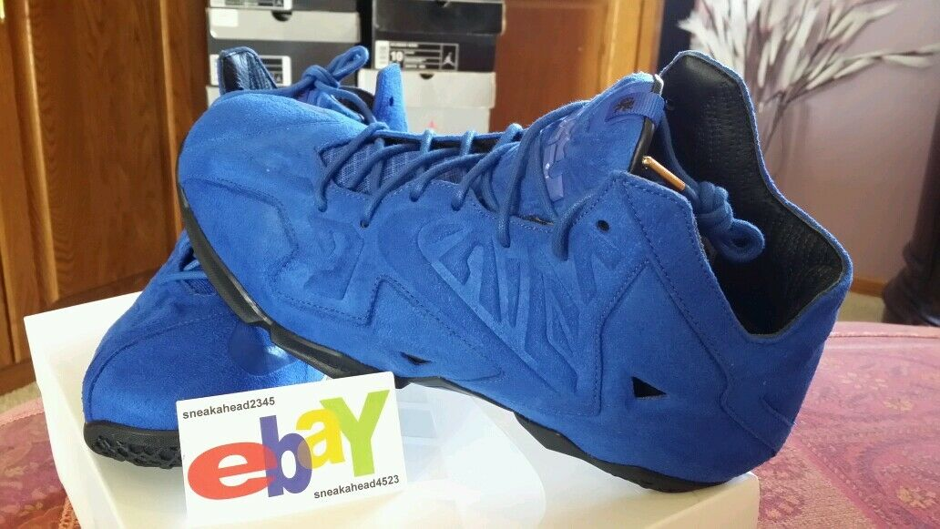 Nike LeBron XI 11 EXT SUEDE QS 656274 440 2014 NWDS 2018